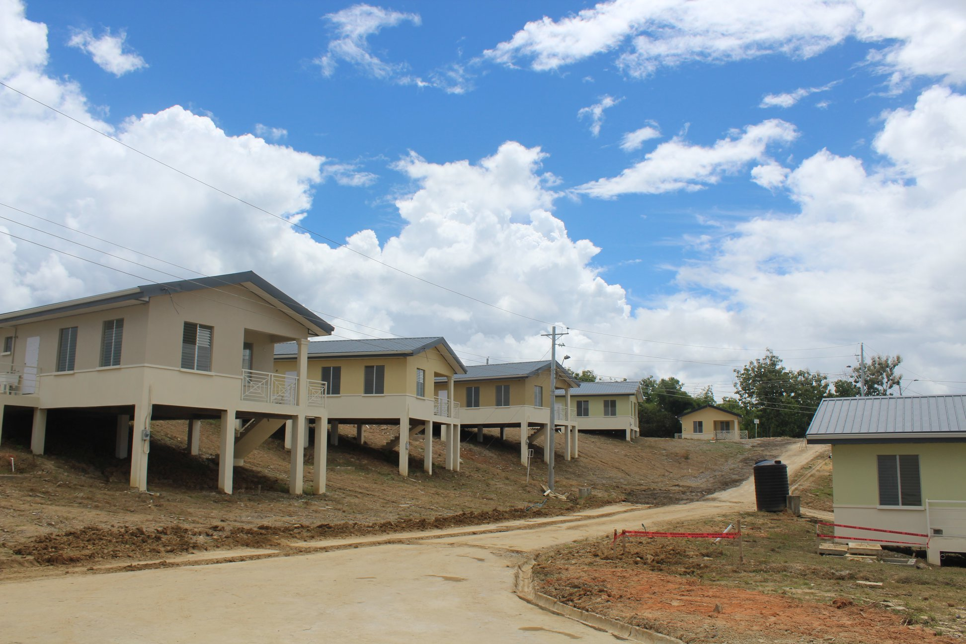 Housing and Urban Development Minister visits Gomez Trace, Moruga